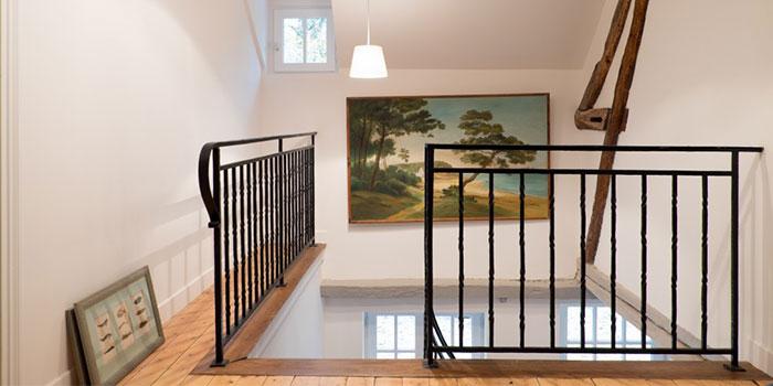 escalier maison renovée architecture