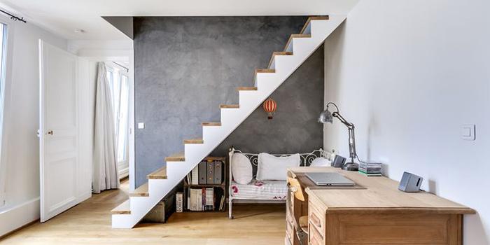 renovation duplex escalier architecte