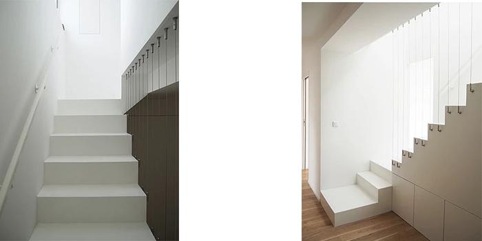 renovation duplex escalier blanc
