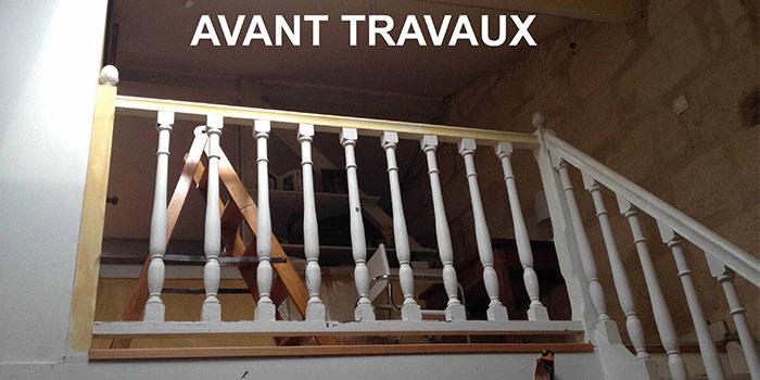 palier etage avant renovation