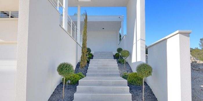 construction villa architecte escalier