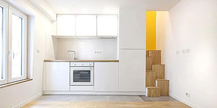 cuisine escalier petit duplex