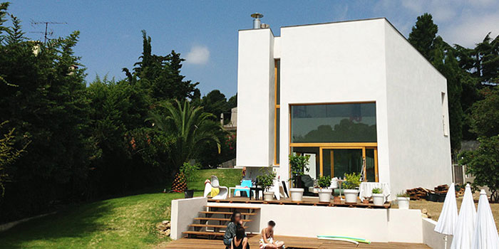 facade maison beton architecture