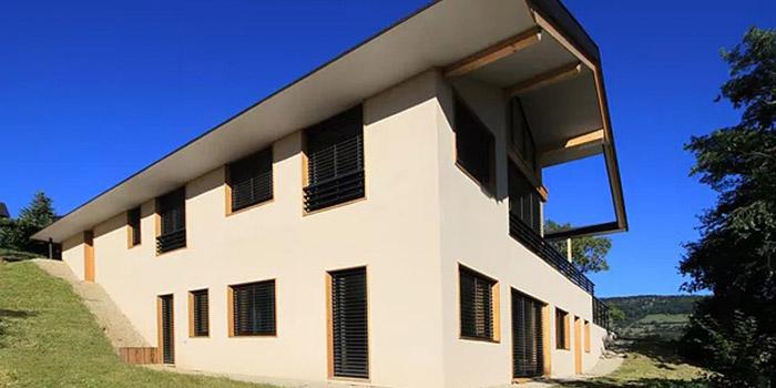 facade maison architecte neuve