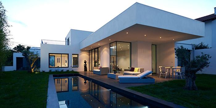 construction villa moderne architecte