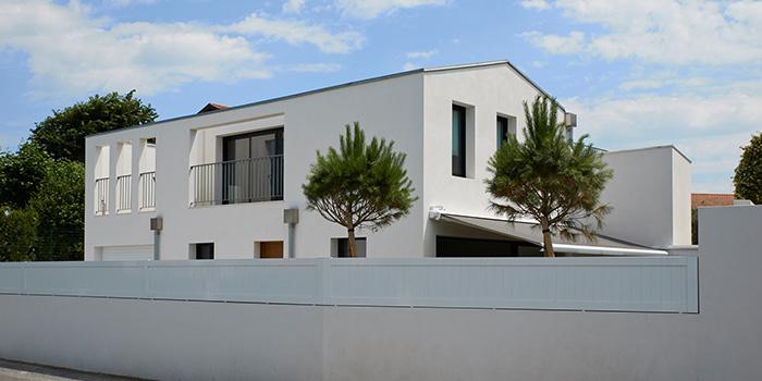 facade villa architecte moderne