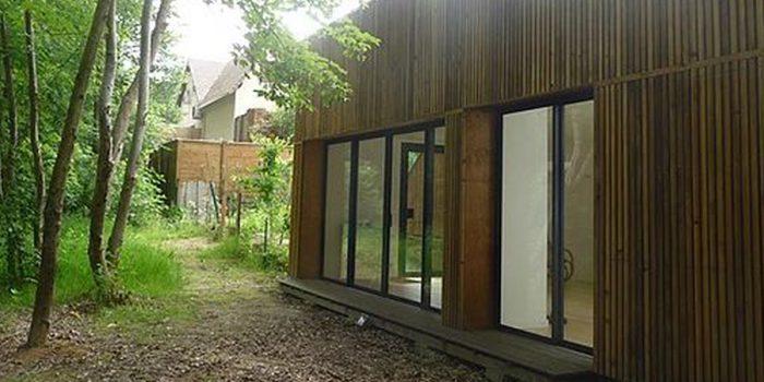 bois baie vitree loft architecture