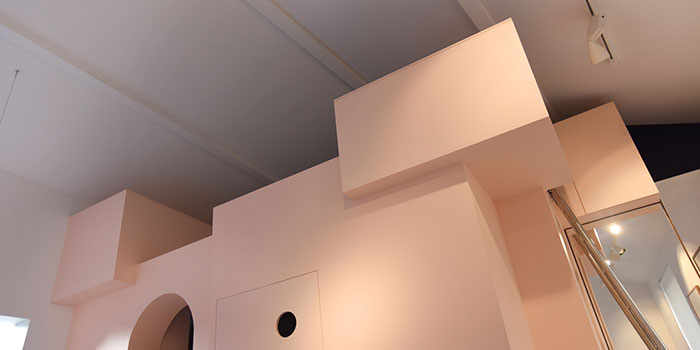 mezzanine rose moderne architecture