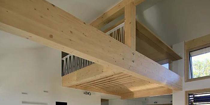 mezzanine bois maison architecte