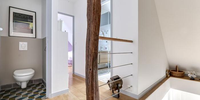 couloir renovation duplex architecte