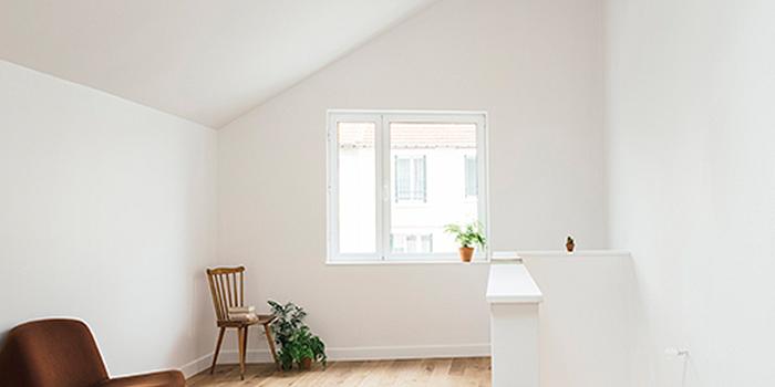 palier blanc construction architecte