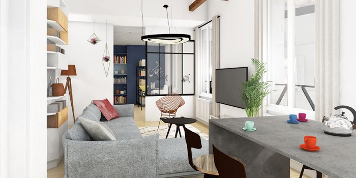 interieur 3D appartement architecture
