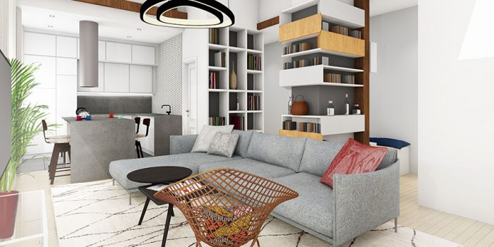 plan 3D interieur architecte
