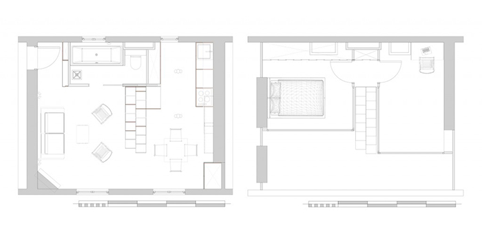 plan renovation duplex architecte
