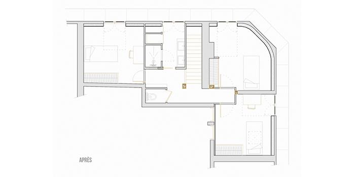 plan renovation duplex apres