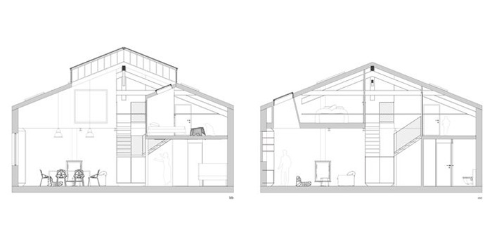 plan cote renovation loft