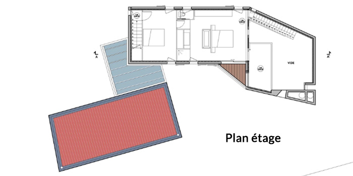 plan etage construction architecte
