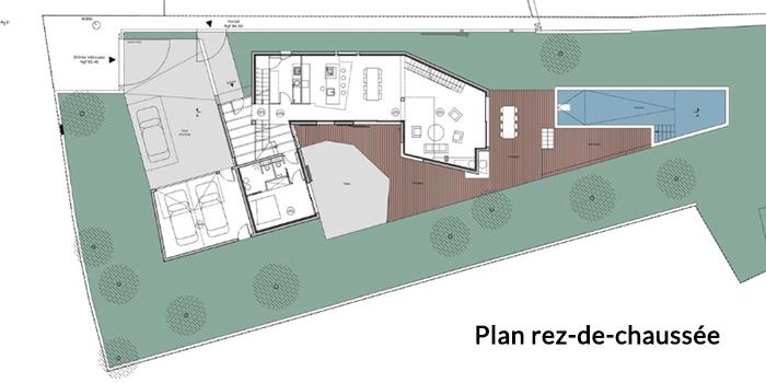 plan rez de chaussee architecte