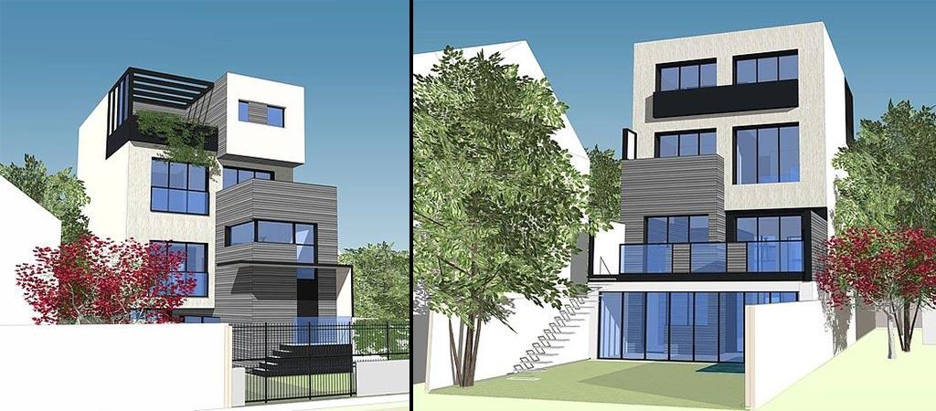 plan 3D maison architecte
