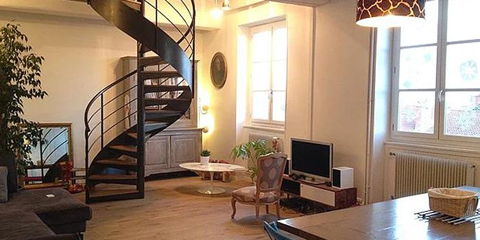 sejour escalier renovation duplex