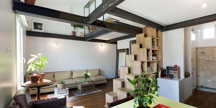 sejour lumineux duplex architecte
