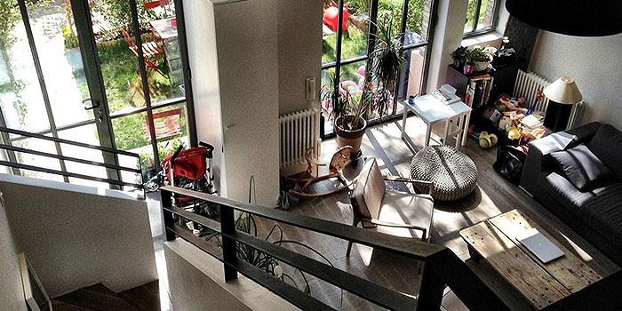 vue escalier appartement architecte