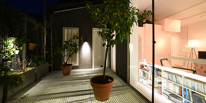 terrasse nuit maison architecte
