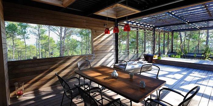 terrasse bois maison contemporaine