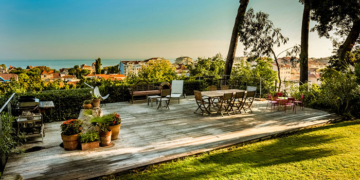 terrasse vue villa architecte