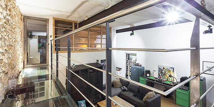 escalier sejour espace architecture