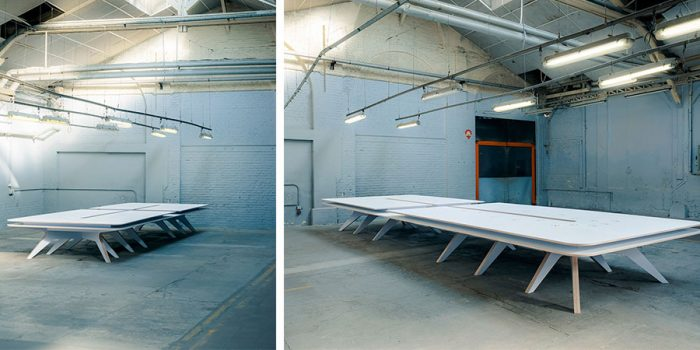 grande table blanche bois