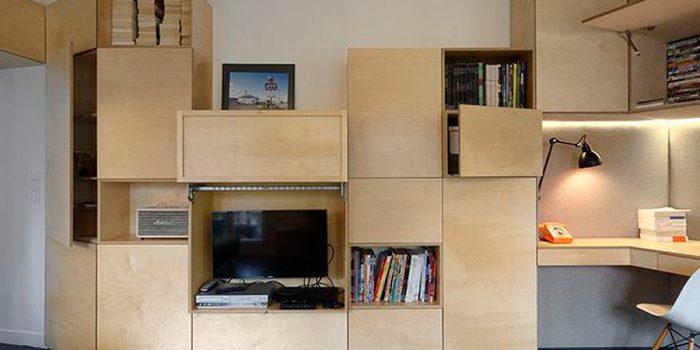 rangements sejour appartement architecte