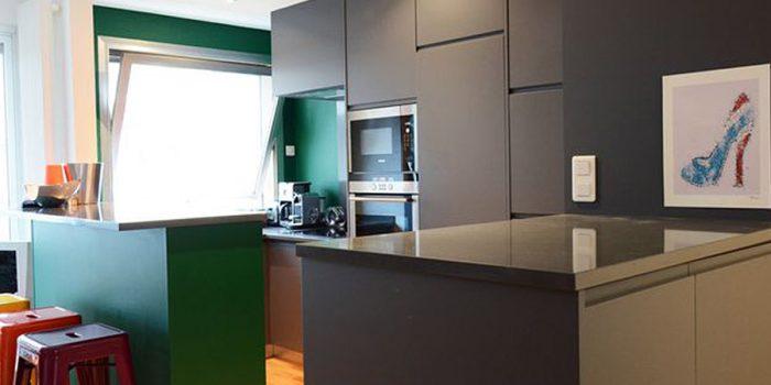 cuisine noir appartement architecte