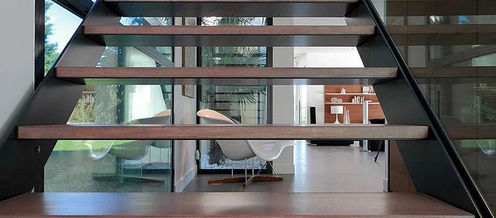 escalier sejour maison neuve