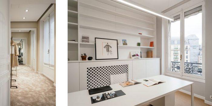 bureaux haussmanien renovés architecte