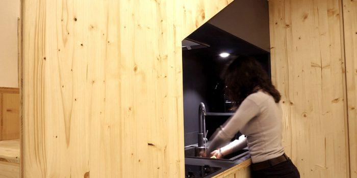 cuisine renovation studio bois