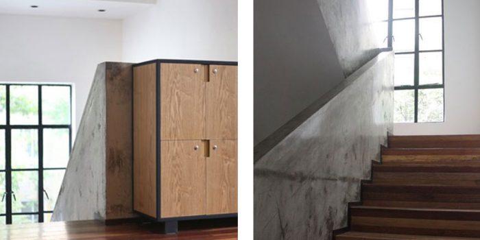 renovation escalier bureaux architecte