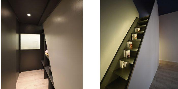 dressing escalier studio renovation
