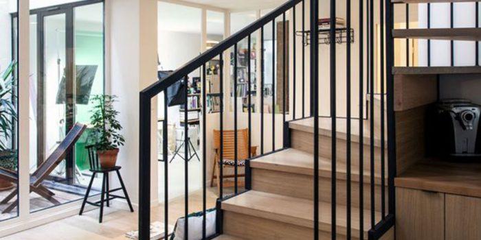escalier renovation open space