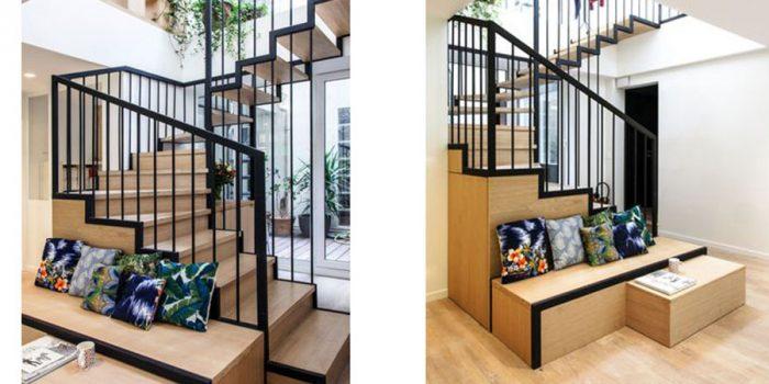escalier banquette sur mesure