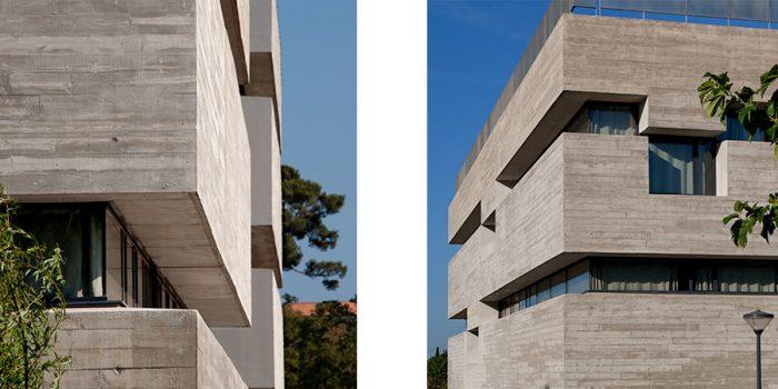 facade immeuble beton architecture