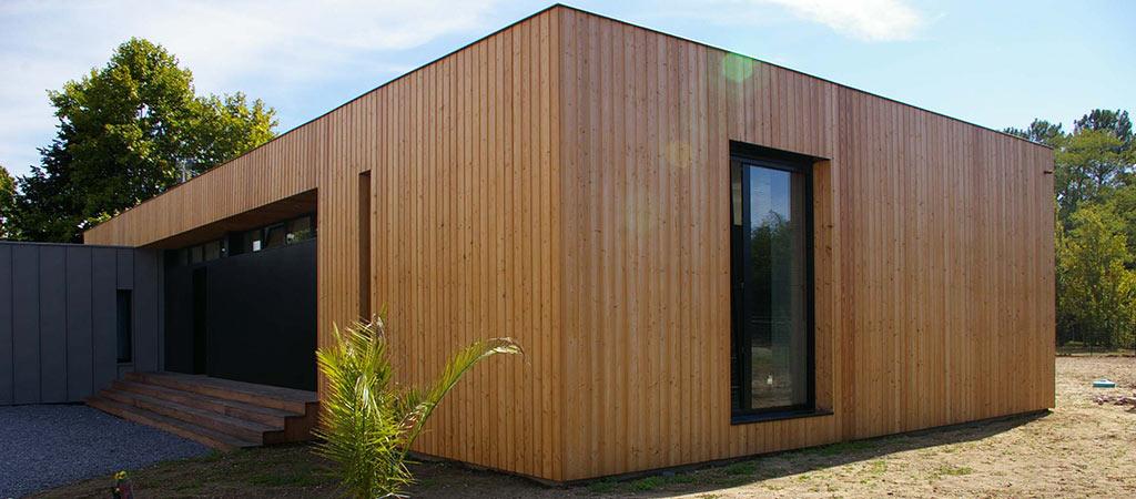 maison neuve bois contemporaine