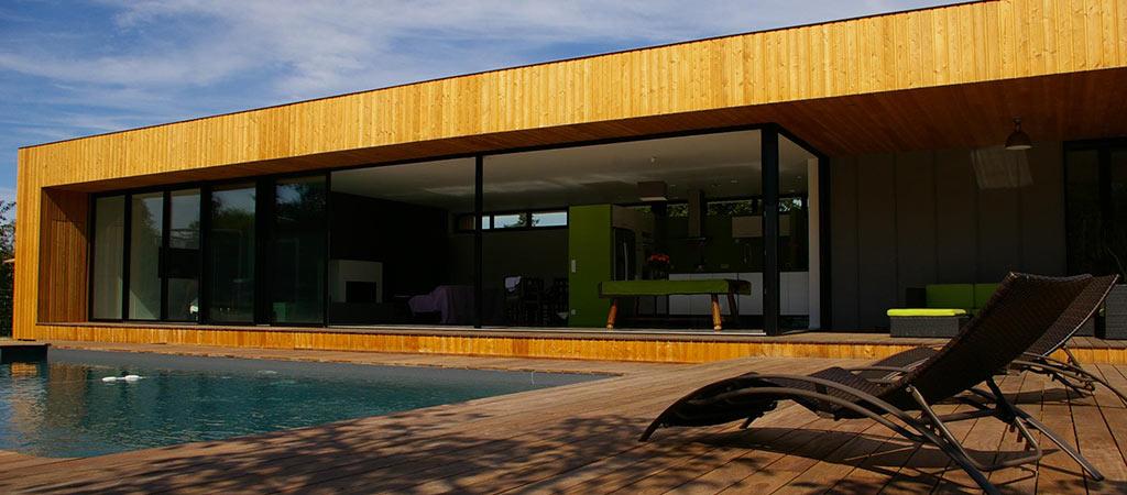 facade maison neuve piscine