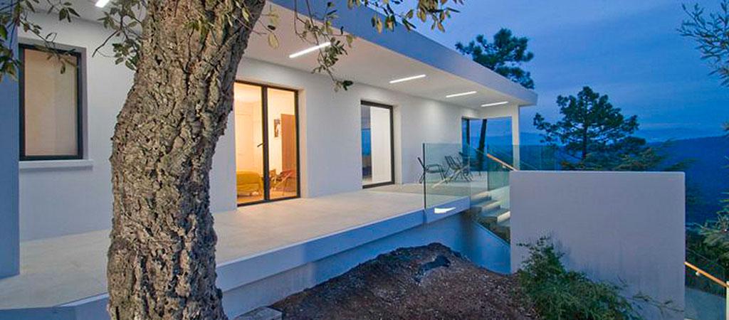 maison neuve nuit architecture