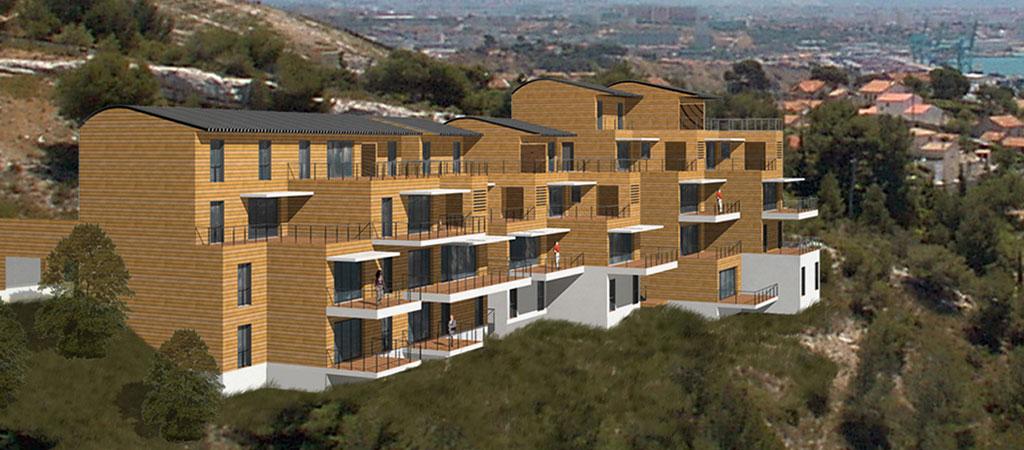 immeuble architecte bois beton