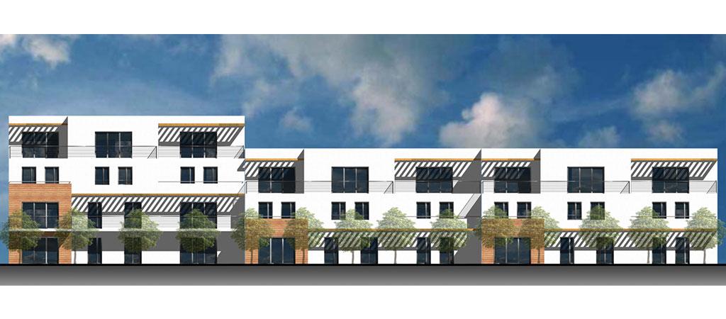 3D architecture logements periurbain