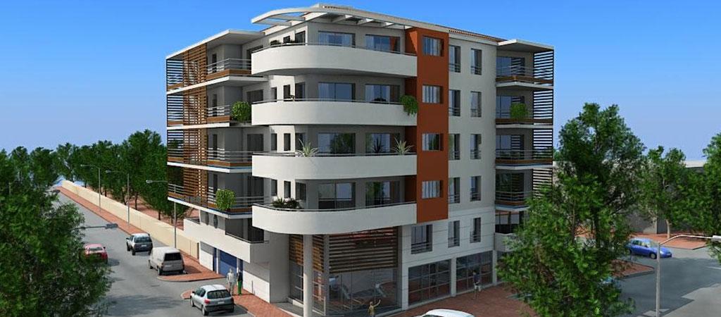 architecture 3D immeuble logement