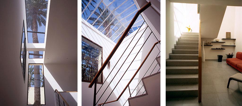 escalier verriere toit architecture