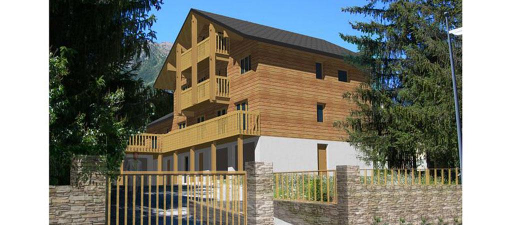 3D renovation chalet architecte