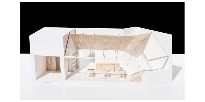 maquette commerce labo architecte